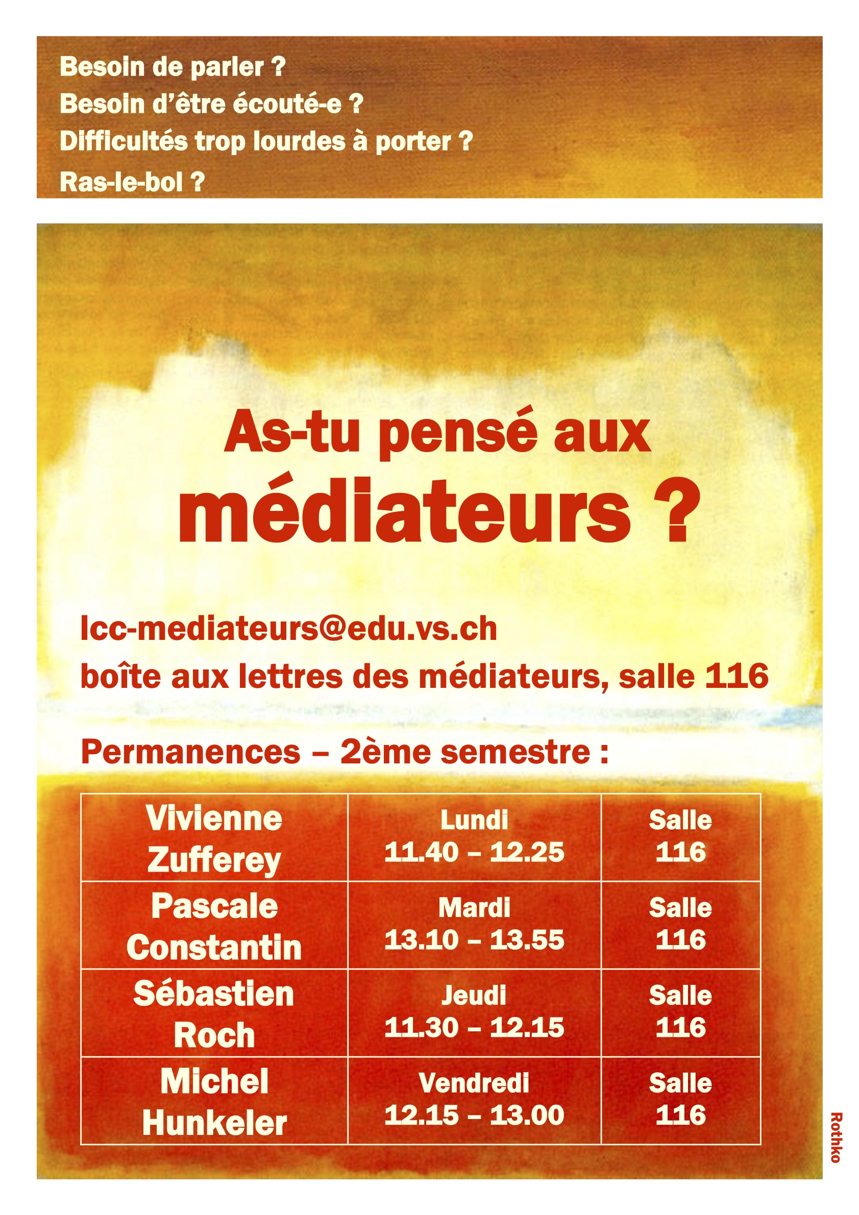 affiche mediation jaune orange 20 21 a3